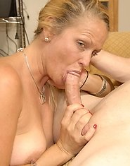 This blonde housewife loves sucking the cock