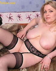 Mature chubby in beautiful black lingerie