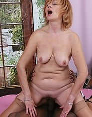 This mature slut really loves a black cock