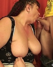 One cock does her mature asshole and the other does her wet mature mouth