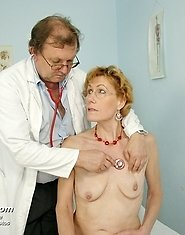 Old lady Mila experiences strange gyno treatment by kinky doctor Tim