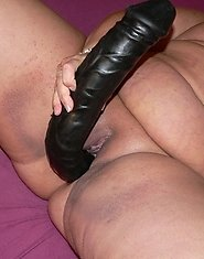 fat mature chick loving her huge dildo's
