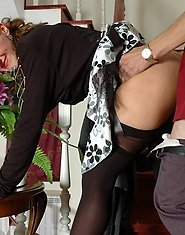 Dressed to kill milf seducing a lad into sizzling hot quickie by the stairs
