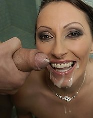 naughty housewife gets caught on the bathroom