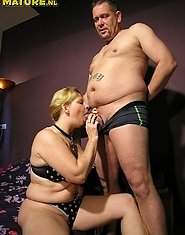Blonde chubby housewife gets fucked by her man