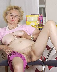 Playful granny shows her sweet old pussy
