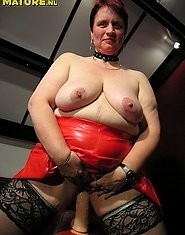This big titted mature slut is showing you her stuff