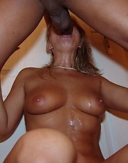 Blonde nasty mature slut caught on the toilet