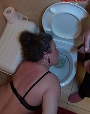 human toilet mature slut